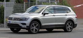 Volkswagen Tiguan XL Spotted Testing Uncamouflaged